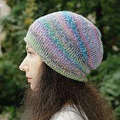 Аксессуары ручной работы. Ярмарка Мастеров - ручная работа Шапка вязаная женская, для девушки, шапка-бини. Handmade.
