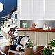 Коллаж к  дизайн-проекту кухни `Санторини 2`. Коллаж - наглядная часть дизайн-проекта, позволяющая конкретизировать цветовое и стилевое решение будущего интерьера. Цветовую гамму и стилистику данног