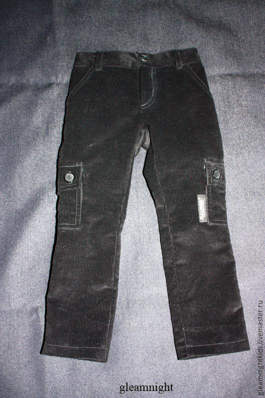 Вельветовые брюки-карго на мальчика