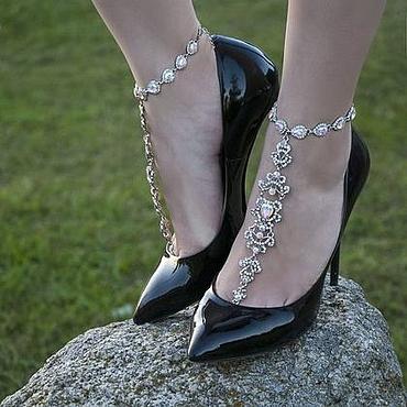 Украшения ручной работы. Ярмарка Мастеров - ручная работа Слейв-браслет на ногу. Handmade.