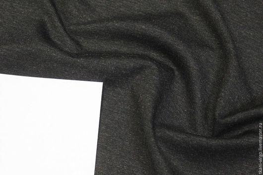 Шитье ручной работы. Ярмарка Мастеров - ручная работа. Купить Трикотаж пунтомилано,цвет темно-серый меланж. Handmade. Остатки