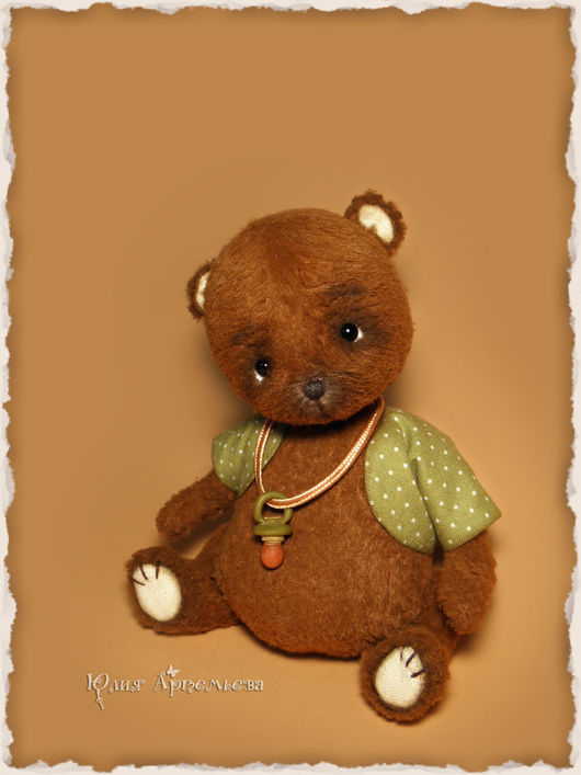 Мишки Тедди ручной работы. Ярмарка Мастеров - ручная работа. Купить Мишка тедди Самый крошечный. Handmade. Коричневый