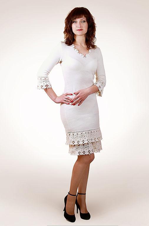 Платья ручной работы. Ярмарка Мастеров - ручная работа. Купить Платье вязаное 4451. Handmade. Платье, летнее платье