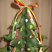 Подарки к праздникам ручной работы. Ярмарка Мастеров - ручная работа елочка-пэчворк. Handmade.