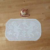 Для дома и интерьера ручной работы. Ярмарка Мастеров - ручная работа Салфетка филейная с Ангелами. Handmade.