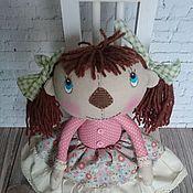 Куклы и игрушки ручной работы. Ярмарка Мастеров - ручная работа Интерьерная текстильная кукла Кнопочка. Handmade.