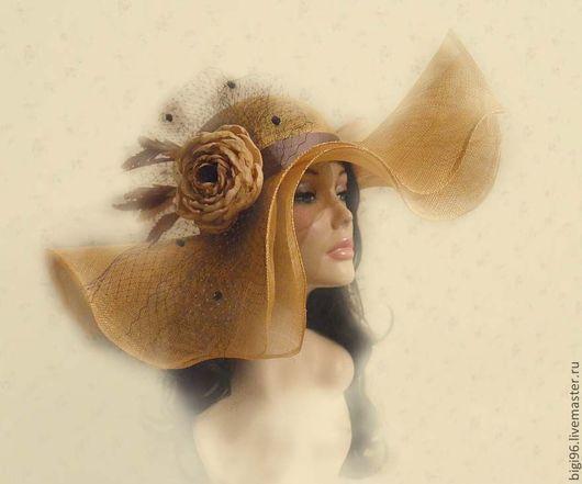 """Шляпы ручной работы. Ярмарка Мастеров - ручная работа. Купить Шляпа летняя """" Золотой шик"""". Handmade. Бежевый, синамей"""