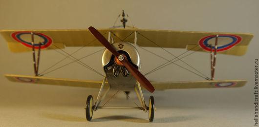Подарки для мужчин, ручной работы. Ярмарка Мастеров - ручная работа. Купить Модель Nieuport-11 (Российская Империя), 1:32. Handmade.