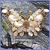 Украшения handmade. Livemaster - original item Butterfly brooch Lacemaker). Handmade.