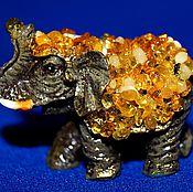 Для дома и интерьера handmade. Livemaster - original item Elephant in natural amber. Handmade.