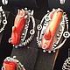 Комплекты украшений ручной работы. Ярмарка Мастеров - ручная работа. Купить Coraline.Серебряные кольцо и серьги с кораллами. Handmade. Коралловый