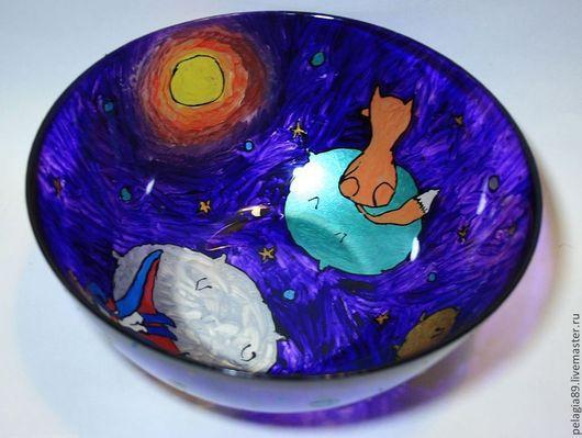 """Салатники ручной работы. Ярмарка Мастеров - ручная работа. Купить Больша салатница """"Маленький принц"""". Handmade. Маленький принц, планеты"""