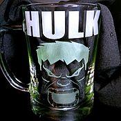 Кружки ручной работы. Ярмарка Мастеров - ручная работа Кружка для пива Hulk. Handmade.