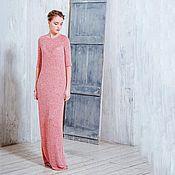 Одежда ручной работы. Ярмарка Мастеров - ручная работа Платье из шелкового трикотажа - клубника со сливками. Handmade.