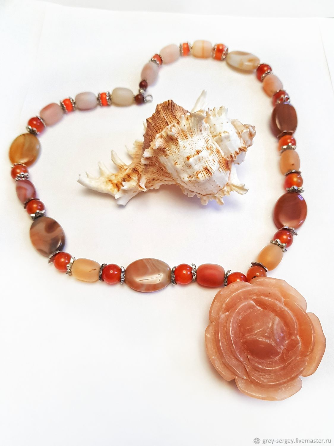 Necklace: Apricot, rose, Jewelry Sets, ,  Фото №1