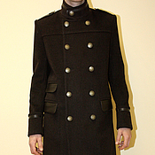 Одежда handmade. Livemaster - original item Men`s winter coats with stand. Handmade.