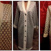 Одежда handmade. Livemaster - original item natural linen cardigan inspired style panles. Handmade.