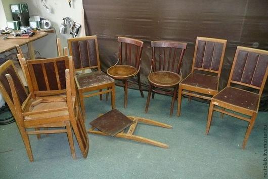 Реставрация. Ярмарка Мастеров - ручная работа. Купить Реставрация и перетяжка старых стульев.. Handmade. Реставрация мебели, стул