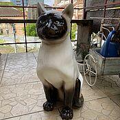 Винтаж handmade. Livemaster - original item Siamese cat. Rare collectible outdoor figurine.. Handmade.