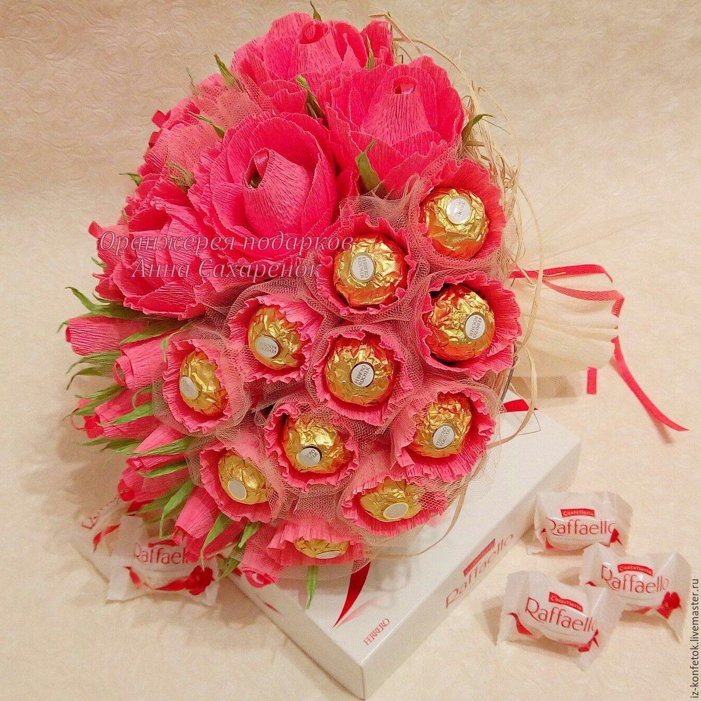 Конфетные букеты на заказ астана, букет роз свадебные