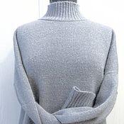 Одежда handmade. Livemaster - original item Jerseys: Silver ice oversize stand collar cashmere mohair lurex. Handmade.