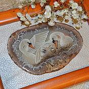 """Картины и панно ручной работы. Ярмарка Мастеров - ручная работа """"Новая жизнь"""" панно с живописью на камне. Handmade."""