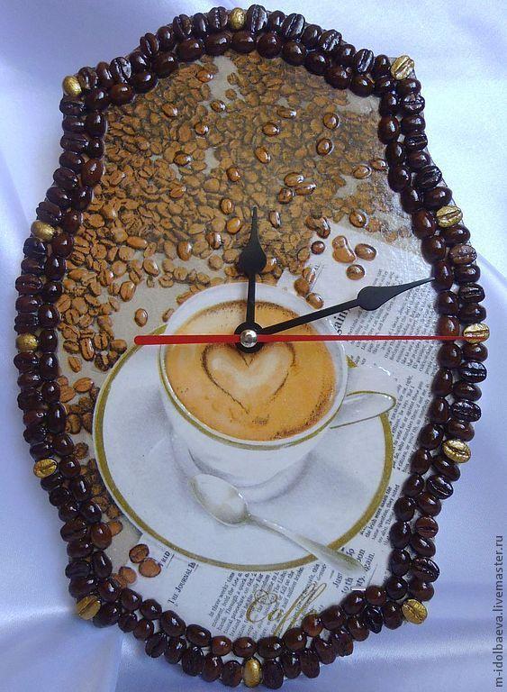 """Часы настенные """"Чашка кофе"""". Декупаж, Часы классические, Зеленчукская,  Фото №1"""
