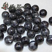 Beads1 handmade. Livemaster - original item Larvikite, 10 mm smooth beads (natural stone). Handmade.