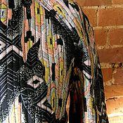 """Одежда ручной работы. Ярмарка Мастеров - ручная работа Легкий стеганый шелковый жакет """"Геометрия цвета"""". Handmade."""