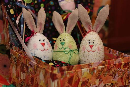 Подарки на Пасху ручной работы. Ярмарка Мастеров - ручная работа. Купить пасхальные зайцы. Handmade. Разноцветный, пасхальный заяц
