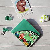 Wallets handmade. Livemaster - original item Bifold leather wallet Green leather wallet Handmade bifold wallet. Handmade.