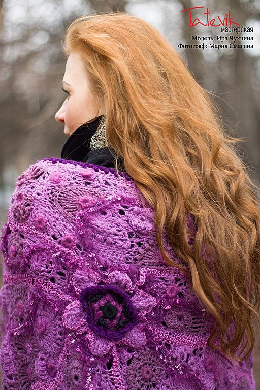 Shawls & Stoles handmade. Livemaster - handmade. Buy shawl 'scent of lilac'.Original gift, lilac, hasmik karapetyan