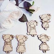 Материалы для творчества handmade. Livemaster - original item Dolls. Blank for brooch made of plywood 3 mm.. Handmade.