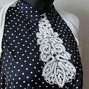 """Аксессуары ручной работы. Ярмарка Мастеров - ручная работа Кружевной галстук """"Узор"""" вологодское кружево. Handmade."""