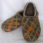 Обувь ручной работы. Ярмарка Мастеров - ручная работа тапки КЛЕТЧАТЫЕ. Handmade.