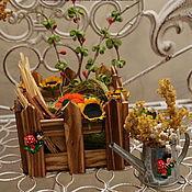 Куклы и игрушки ручной работы. Ярмарка Мастеров - ручная работа Мини фазенда. Собери свой огород))). Handmade.