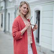 Одежда handmade. Livemaster - original item Long coral cardigan. Handmade.