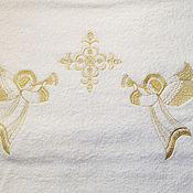 """Работы для детей, ручной работы. Ярмарка Мастеров - ручная работа Полотенце крестильное """" Светлый ангел """". Handmade."""