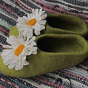 """Обувь ручной работы. Ярмарка Мастеров - ручная работа Тапочки """"Ромашки"""". Handmade."""