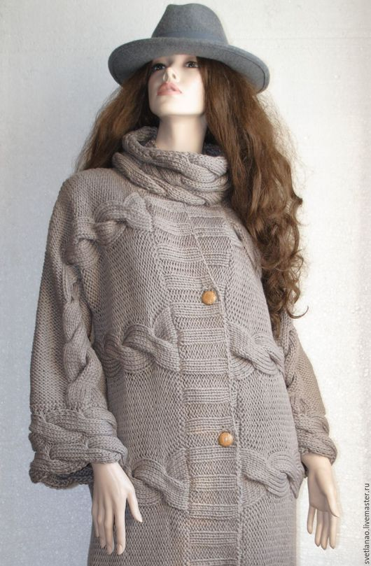"""Верхняя одежда ручной работы. Ярмарка Мастеров - ручная работа. Купить Пальто """"Нежность"""". Handmade. Пальто, вязание спицами"""