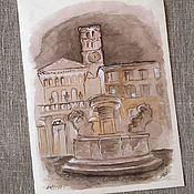 Картины и панно ручной работы. Ярмарка Мастеров - ручная работа Картина акварелью Рим. Handmade.