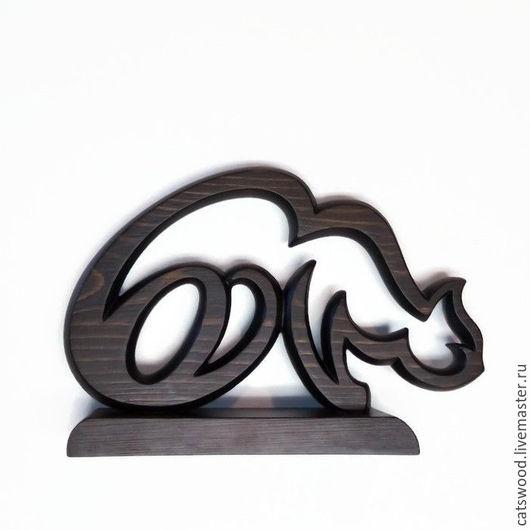 Элементы интерьера ручной работы. Ярмарка Мастеров - ручная работа. Купить Скульптура Кошка-иероглиф-3. Handmade. Коричневый, подарок
