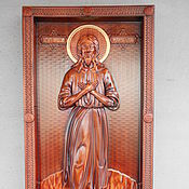 Картины и панно ручной работы. Ярмарка Мастеров - ручная работа Икона Святого Преподобного Алексия, человека Божия. Handmade.