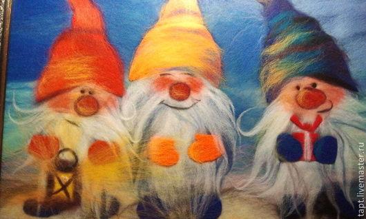 Фантазийные сюжеты ручной работы. Ярмарка Мастеров - ручная работа. Купить Рождественские дары. Handmade. Тёмно-синий, Новый Год