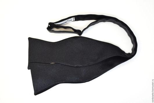 """Галстуки, бабочки ручной работы. Ярмарка Мастеров - ручная работа. Купить Самовяз черный """"Классика"""". Handmade. Черный, галстук-бабочка"""