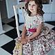 Платье `Айвори` из коллекции `Розовое очарование`, 100% американский хлопок  На данном фото цвет платья как в реальности