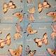 Бабочки разные на голубом фоне  - салфетка для декупажа Декупажная радость