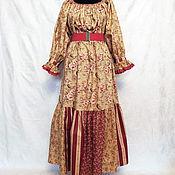 """Русский стиль ручной работы. Ярмарка Мастеров - ручная работа Лоскутное платье - """"широковоротка"""". Handmade."""