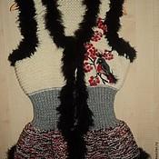 """Одежда ручной работы. Ярмарка Мастеров - ручная работа Жилет """"Снегири"""". Handmade."""