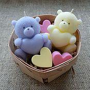Сувениры и подарки ручной работы. Ярмарка Мастеров - ручная работа Подарочный набор свечей-мишек. Handmade.